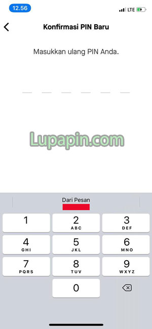 Masukan Ulang Kode PIN Gopay Baru