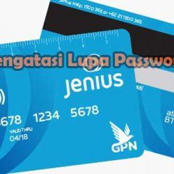 Cara Mengatasi Lupa Password Jenius