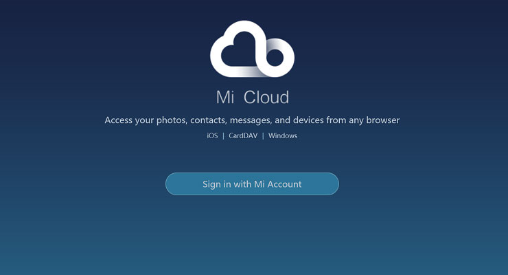 Menggunakan Mi Cloud