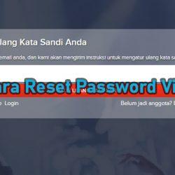 Cara Reset Password Vidio Mudah Cepat