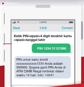 1. Kirim SMS ke 1418 atau 62816101418