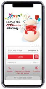 1. Login Aplikasi OCTO Mobile