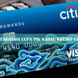 Lupa PIN Kartu Kredit Citibank