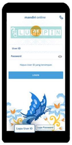 1. Buka Aplikasi Mandiri Online lalu pilih Lupa User ID