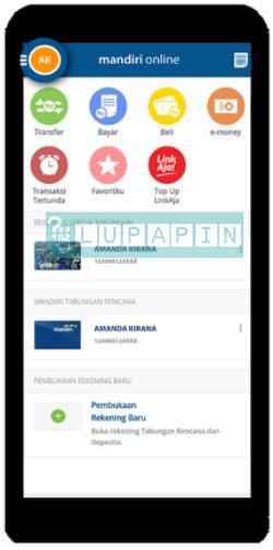 2. Lalu pada menu utama pilihlah menu yang berada dibagian kiri atas layar HP Android atau iPhone untuk lebih jelasnya lihat gambar dibawah ini