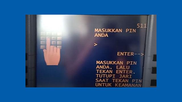 3 Masukkan PIN ATM Mandiri Lama