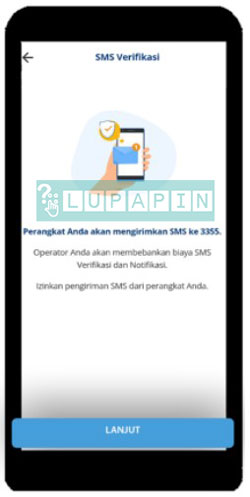 3. Pihak bank Mandiri akan meminta perangkat yang digunakan untuk mengirim sms verifikasi ke nomor bank Mandiri
