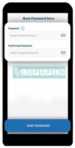 4. Lalu buat password baru dan pastikan password baru