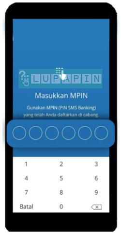 4. Tinggal masukkan MPIN Mandiri Online