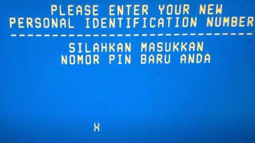 5 Masukkan PIN ATM BTN baru