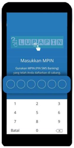 5. Kemudian masukkan MPIN Mandiri Online
