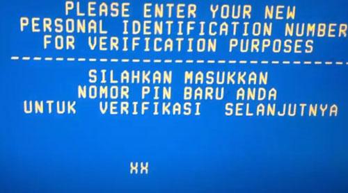 6 Kemudian masukkan lagi PIN ATM BTN baru untuk verifikasi PIN baru