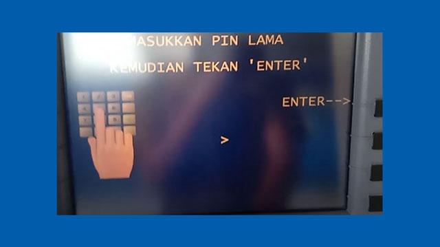 6 Masukkan PIN Lama ATM Mandiri