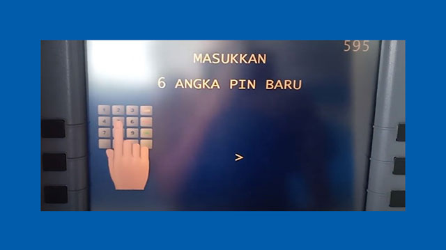 7 Masukkan PIN ATM Mandiri Baru
