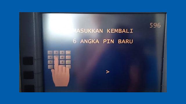 8 Masukkan Kembali 6 Angka PIN ATM Mandiri Baru