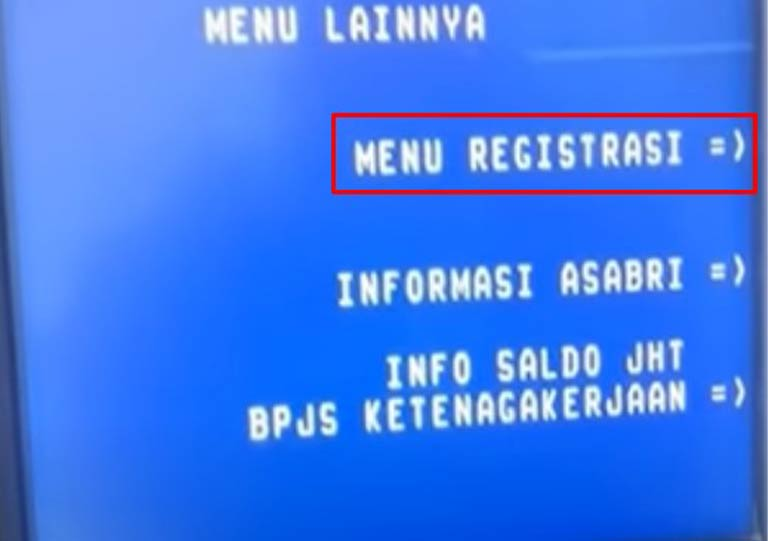 Pilih Menu Registrasi