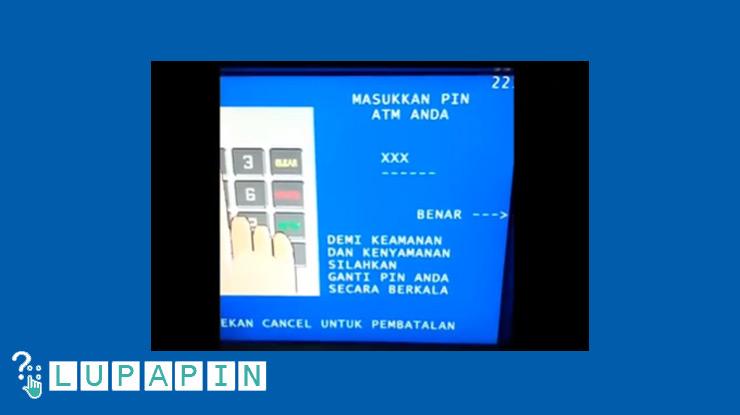 Masukkan PIN ATM BTN.