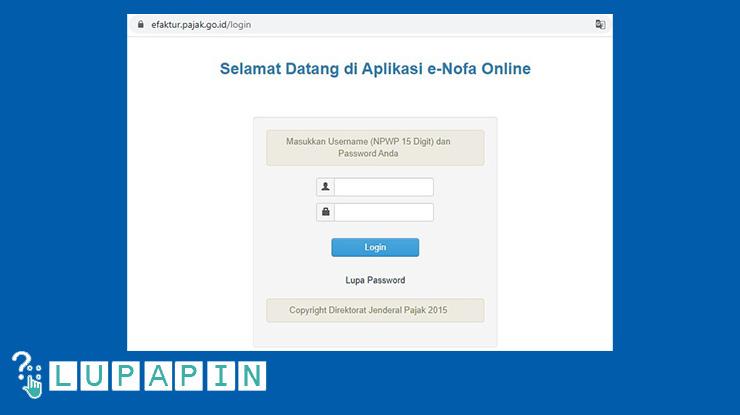 1. Buka website efaktur.pajak .go .idlogin bisa menggunakan laptop komputer ataupun smartphone asalkan memiliki koneksi internet yang stabil.