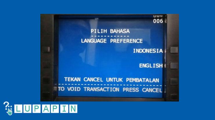3.Pilih bahasa sebaiknya Indonesia.