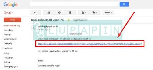 5. Klik Link Ubah PIN