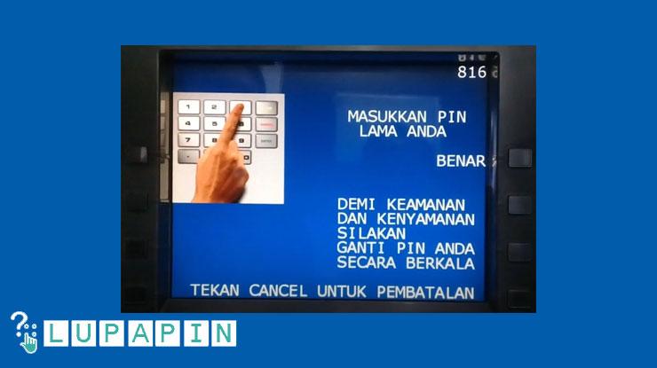 7.Kemudian masukkan PIN lama ATM BRI Syariah.