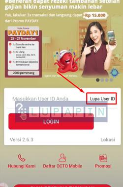 1 Klik Lupa User ID