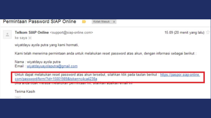3 Klik Link yang Dikirim SIAP PPDB Online