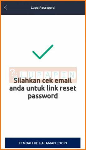 Keterangan Cek Email