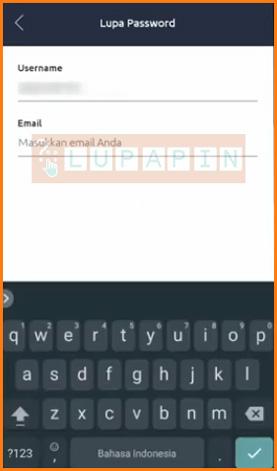 Masukan User ID dan Email