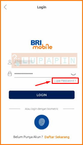 Pilih Lupa Password di Halaman Login
