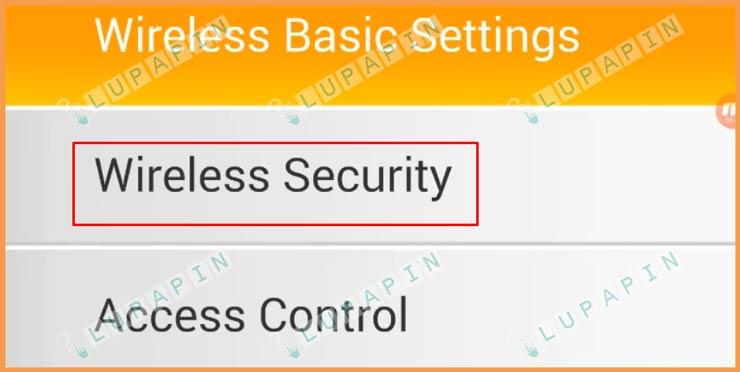 6 Pilih Wireless Security