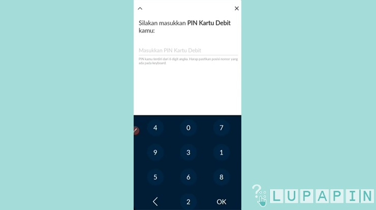 7 Masukan PIN Kartu Debit