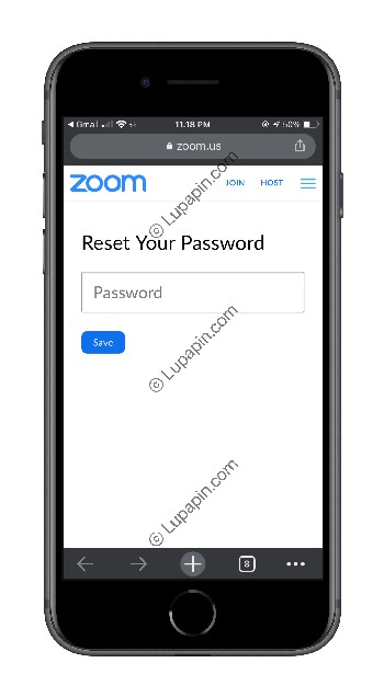 Buat Password Baru Aplikasi Zoom
