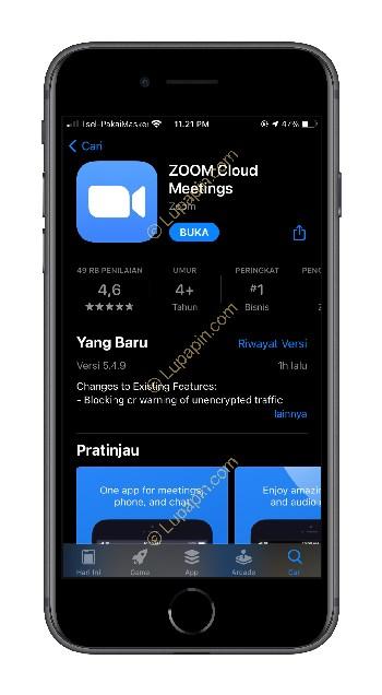 Buka Aplikasi Zoom di HP
