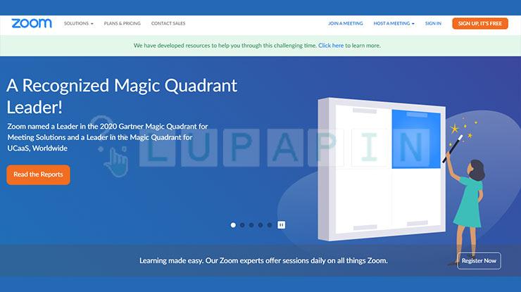 Buka Situs Zoom