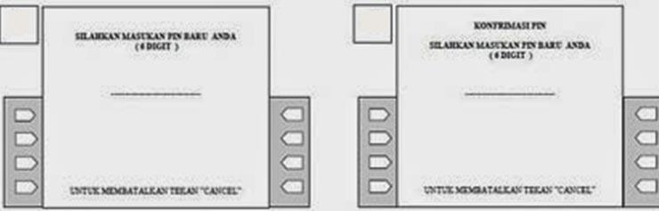 Input PIN ATM Bukopin Baru Konfirmasi