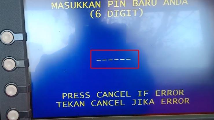 Masukan PIN ATM Baru