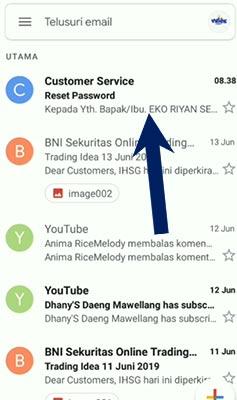 Buka Email Terdaftar