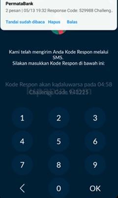 Kode OTP Permata Mobile X