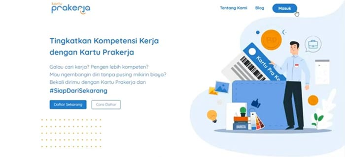 Kunjungi Situs Kartu Prakerja