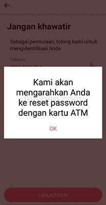 Memasukkan Nomor Kartu ATM Bank Sinarmas