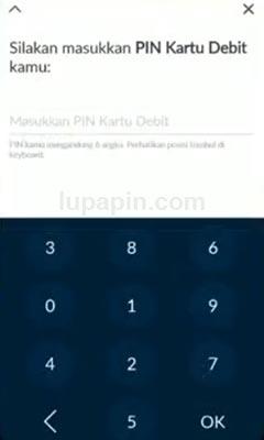 Memasukkan PIN 1