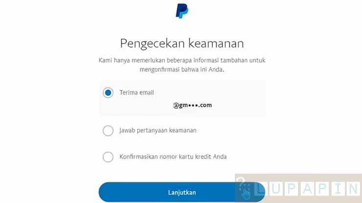 Pemulihan Email PayPal