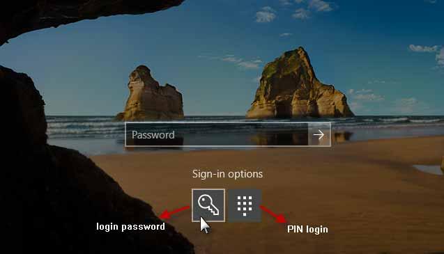 Reset PIN Microsoft via Settings