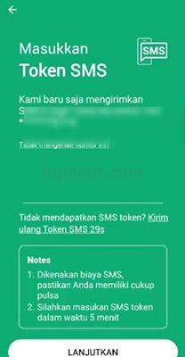 Verifikasi Kode OTP Simobi Bank Sinarmas