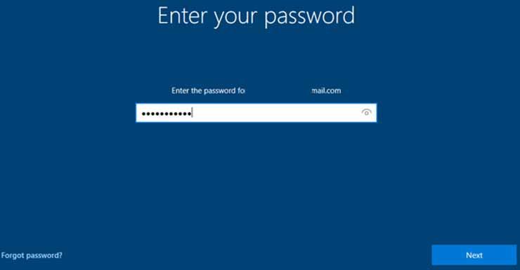 lupa password windows 10