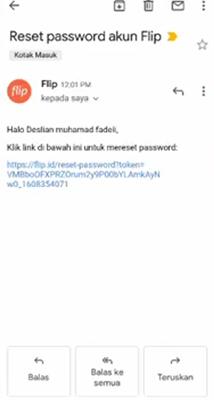 reset via email