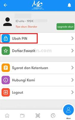 ubah pin 1