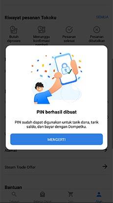 ubah pin