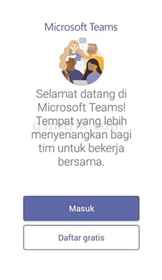 Login ke Microsoft Teams